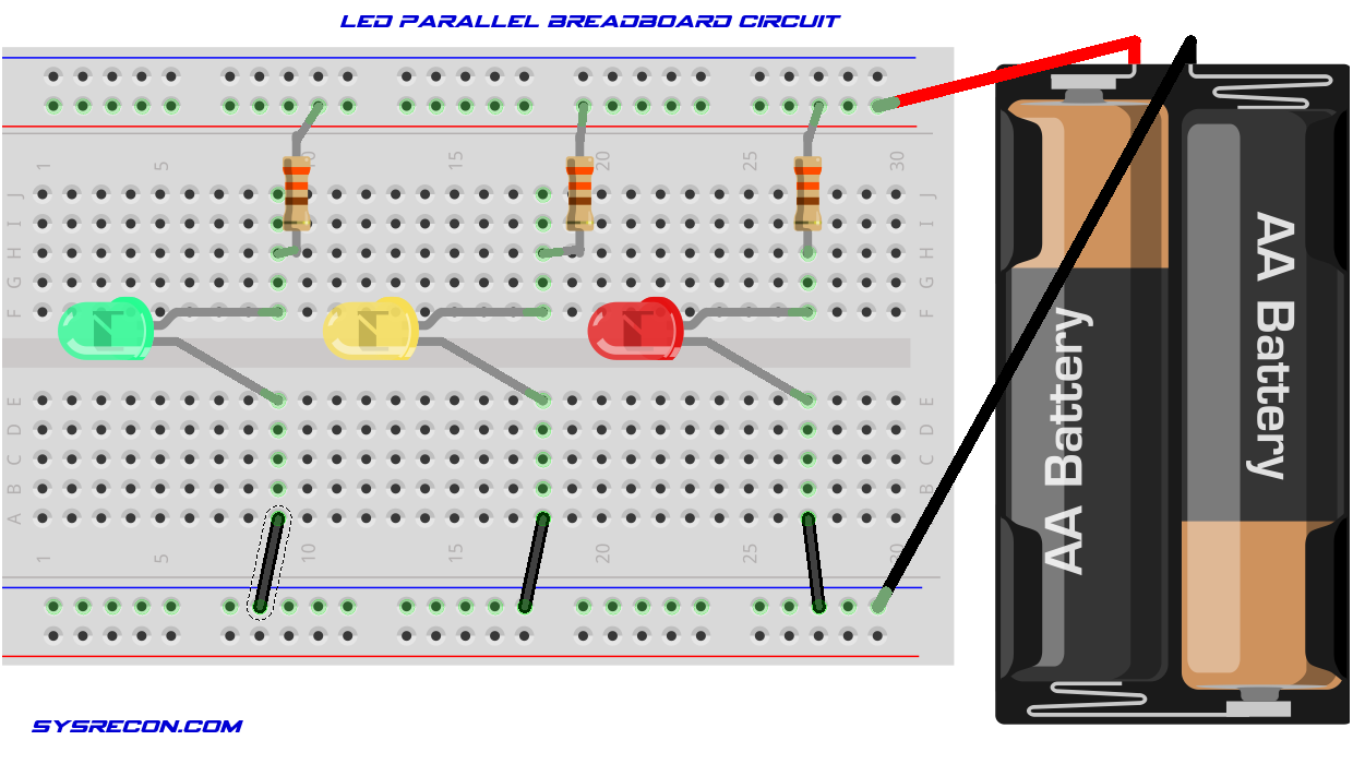 Parallel Vs Series And Wiring Diagram Breadboard